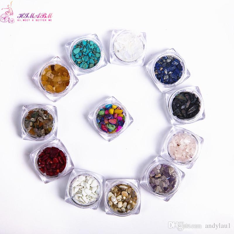 HIMABM 1 pezzo = 100g Colorate irregolari in pietra naturale 3D Decorazioni nail art Ruota Accessori fai da te gioielli di bellezza
