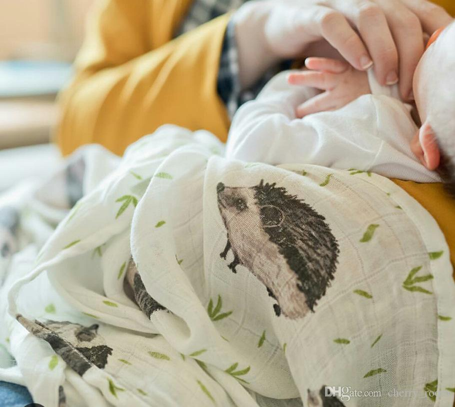 Presell New 2017 Baby Cartoon Printed Newborn Saliva Bath Towel Blankets Toddler Cloths Pure Cotton Soft Cute Waterproof 120*120 cm A6773