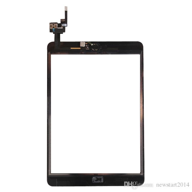 Free DHL for iPad mini 3 High Quality Touch Screen Glass Digitizer Assembly Replacement with Home Button & Flex Cable+ IC connector