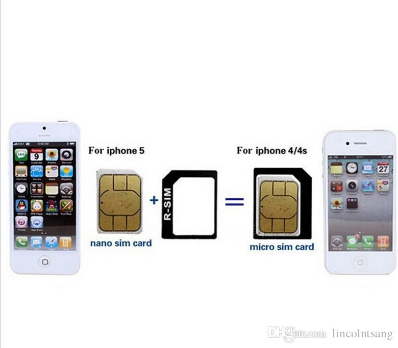 4 en 1 Noosy Nano Sim Card Adapter Sets Micro Standard Sim Card Tools Tarjeta SIM Pin AndroidIphone con caja al por menor