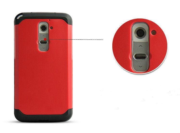 High quality Armor Frame 2 In1 Phone Case For LG G2 Anti-Shocked Dirt-Resistant TPU+PC Back Cover Hot Sell product