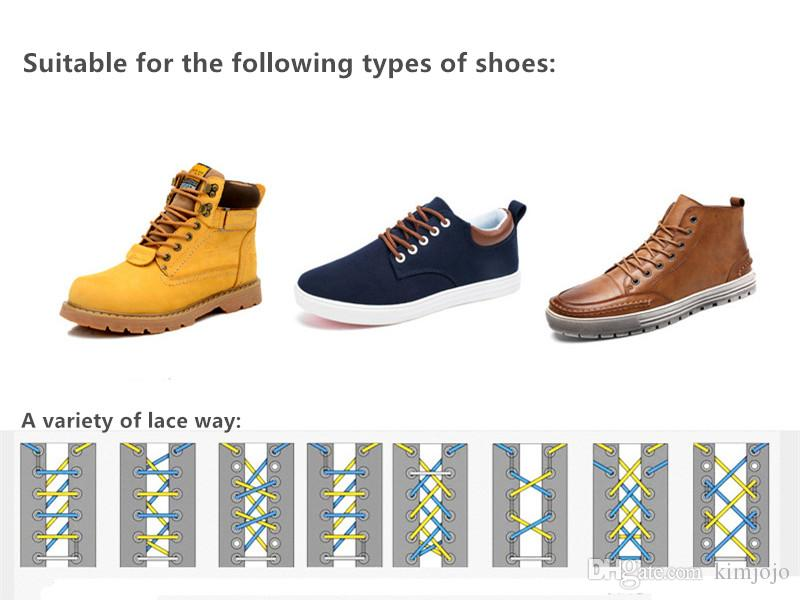 High Quality Multicolor Casual Shoes Shoelaces Outdoor Sports Hiking Round Sneakers Shoelaces Martin Boots Shoe laces strings