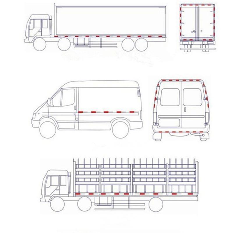 Araba Dikkat Emniyet Uyarı Yansıtıcı Görünürlük Filmi Kamyon Araba Römork Yapıştırıcı Sticker