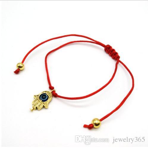 NEW Hamsa Hand String Evil Eye Lucky Red Cord Adjustable Bracelet Gift