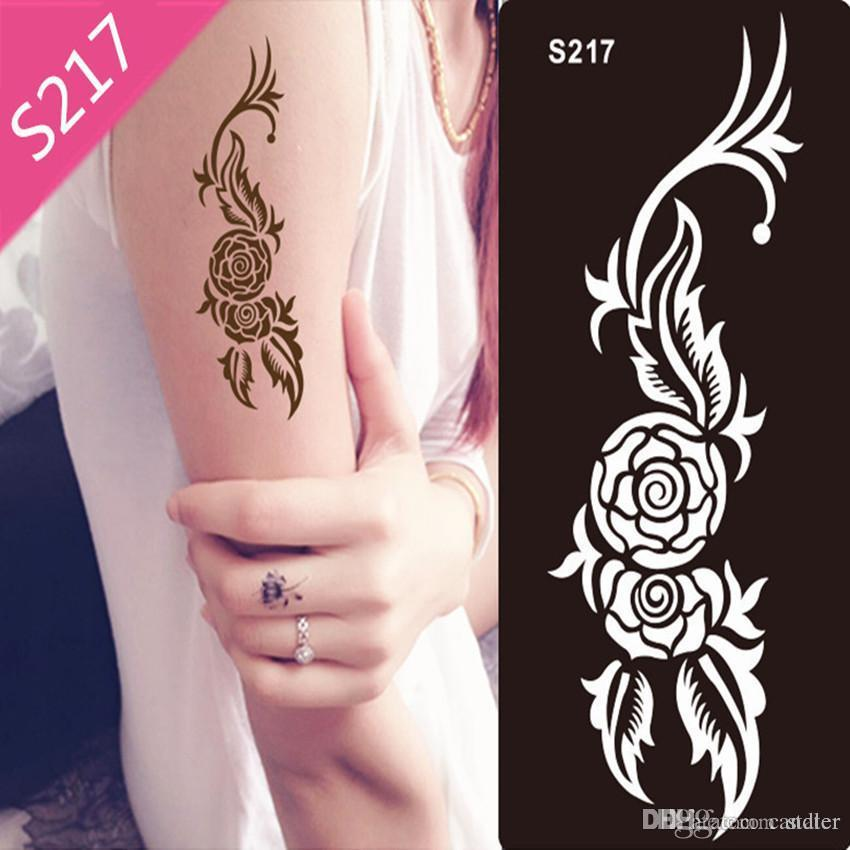 Wholesale Stencils For Body Painting Glitter Tattoos New Design Glitter Tattoo Kits Supplies Air Brush Paint Airbrush Air Compressor From Stater