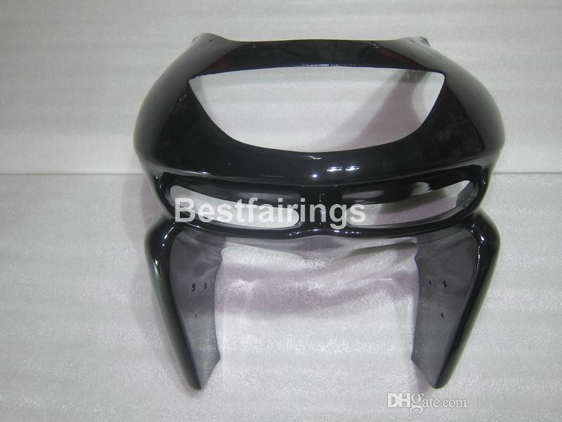 Kawasaki Ninja ZX9R 98 için yüksek kaliteli vücut parçaları kaporta kiti 99 parlak siyah motosiklet fairings seti ZX9R 1998 1999 TY36