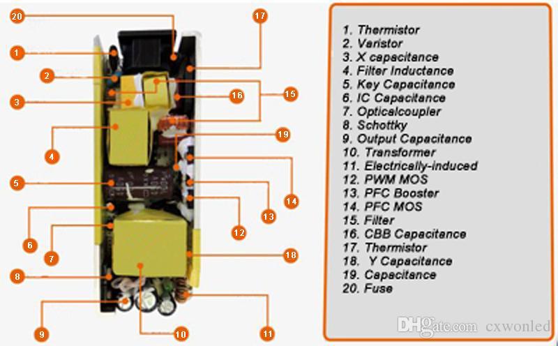 Zasilacz przełączający LED 110-240 V AC DC 12V 2A 3A 4A 5A 6A 7A 8A 10A LED Light Light 5050 3528 Adapter transformatora