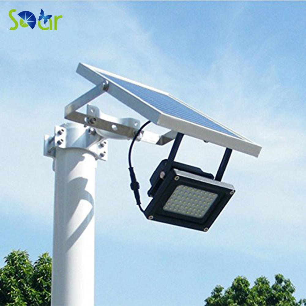 Awesome 2018 Wholesale Solar Powered Floodlight/ Spotlight Outdoor Waterproof  Security Led Flood Light Lamp 54led 400 Lumen For Home Garden Lawn Pool  From Caraa, ...