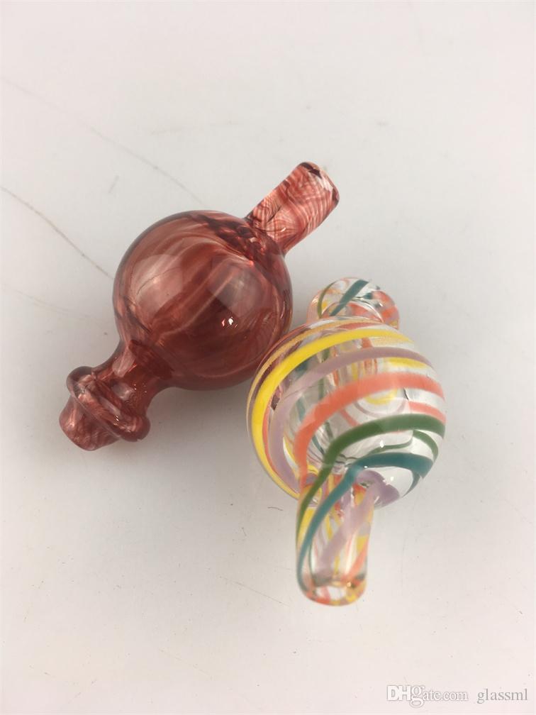 kvv Bouchon à bulles en verre coloré avec trou sur le dessus Quartz thermique Banger clous Givré Poli Joint E-nail Détail