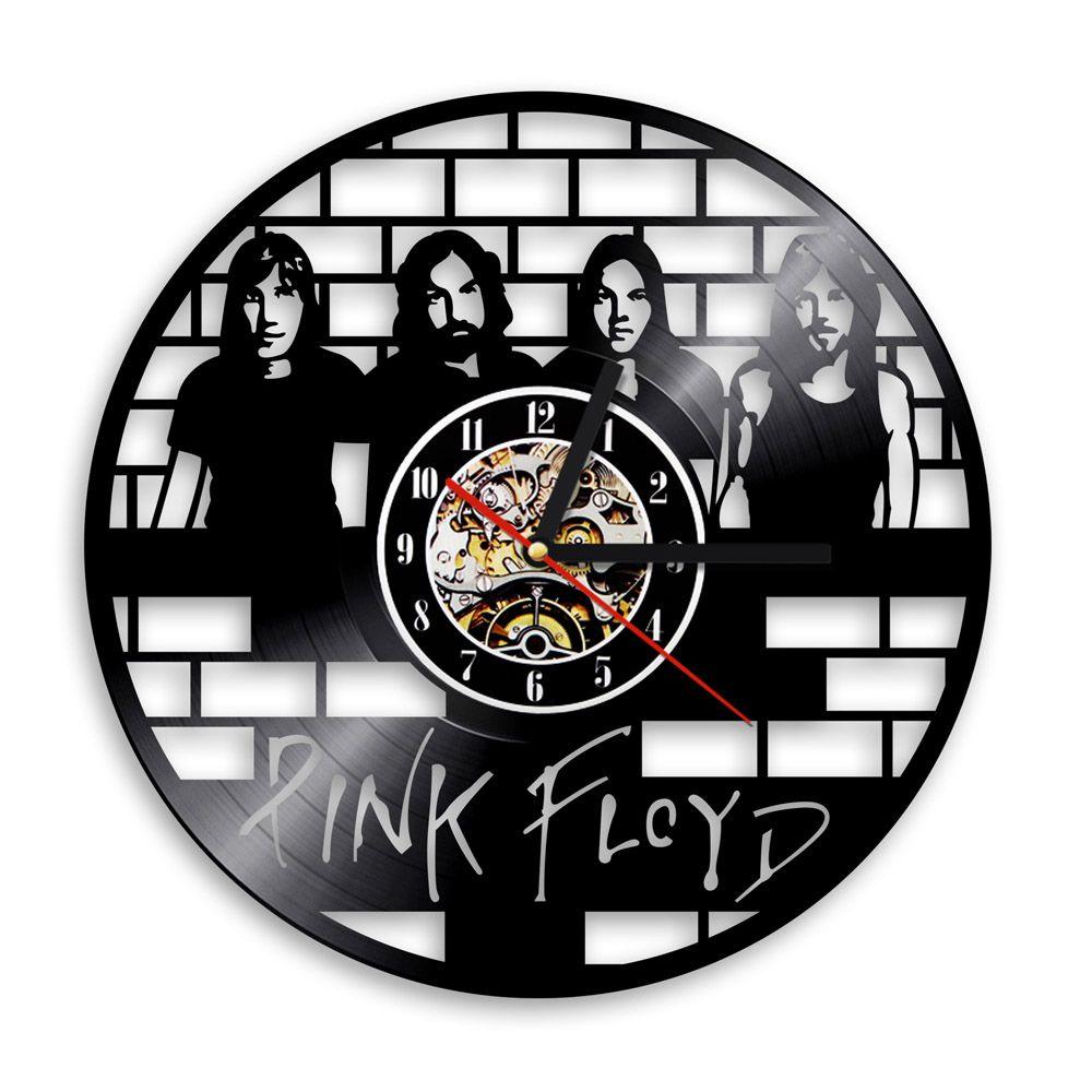 Pink Floyd CD Vinyl Record 3D Wall Clock Muisc Group Art Unique Vintage  Decorative Clock 12
