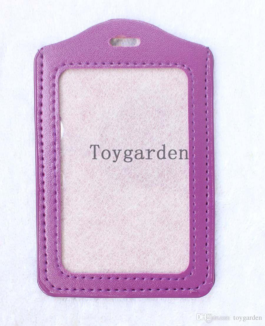일괄 판매 신용 ID 카드 배지 이름 태그 홀더 패스 케이스 끈 플라스틱 파우치 가방 무료 배송