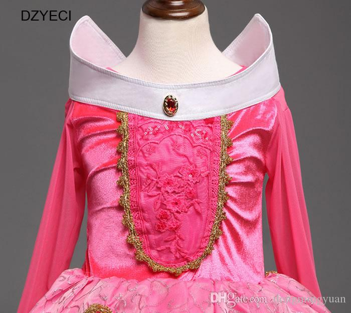 Aurora Carnival Costumes For Girls Dresses Easter Teenager Children Deguisement Prom Fancy TUTU Lace Princess Dress Kid Ceremony Clothes