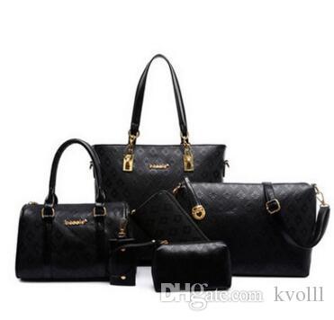 2017 6 pz / lotto S815 con donne signora borse in rilievo borse a tracolla borse messenger portafogli borsa nuova borsa a tracolla moda messeng