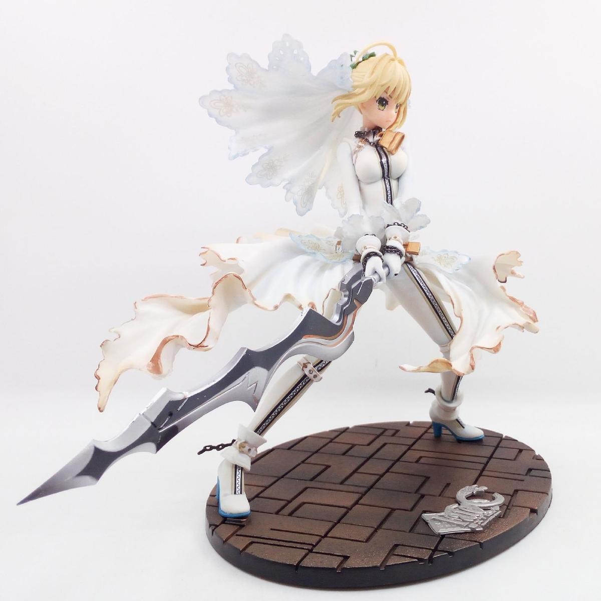 2018 25cm Fate Zero Fate Stay White Wedding Dress Saber Japanese ...