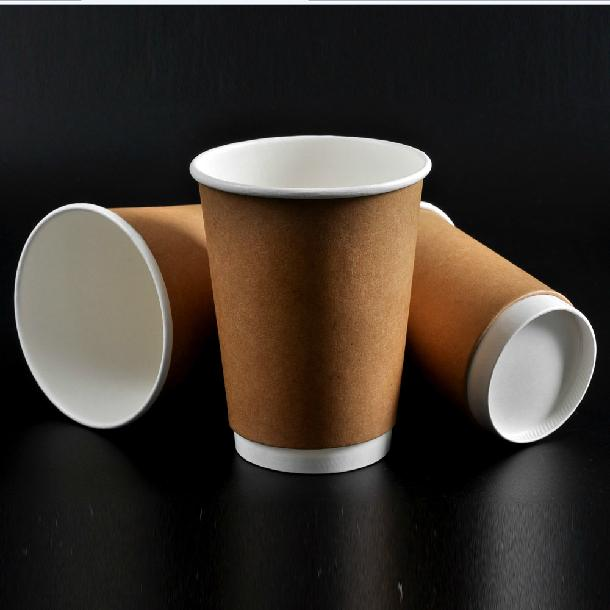 Wholesale-Thick Insulation Kraft Paper Coffee Cup 8oz Disposable Drinking  Cup Fashion Drinkware 100pcs/lot CK142