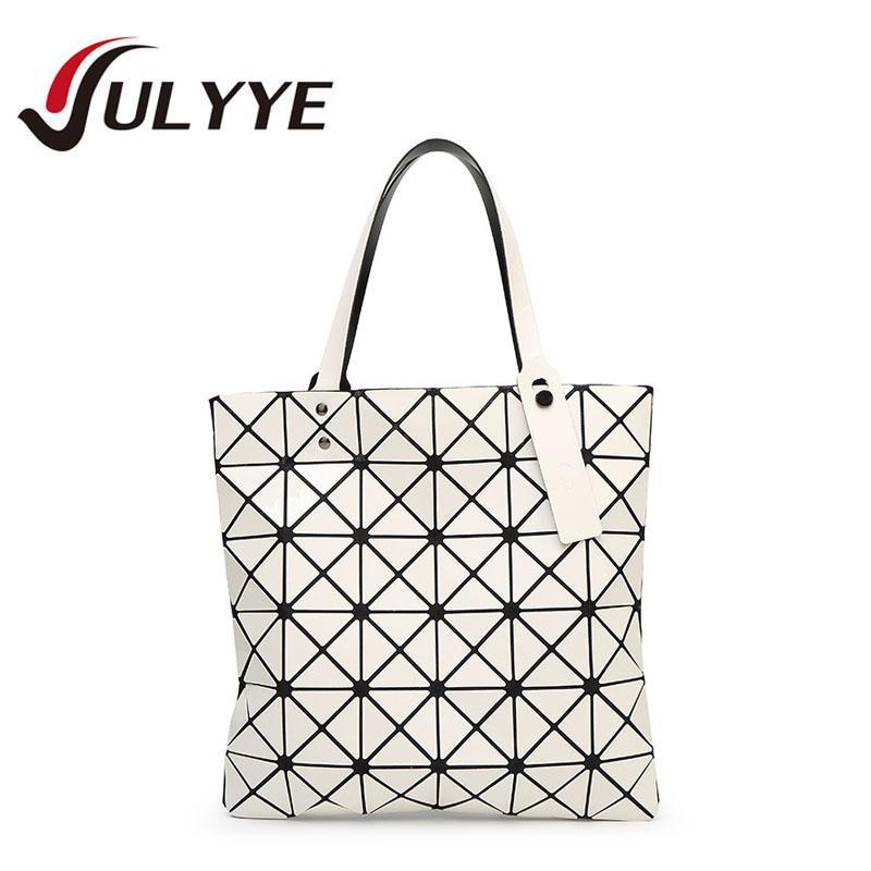 7836fa61612a Wholesale-Band Designer Women Fashion BAO BAO Mirror Bag Geometry Sequins  Laser Plain Handbag Folding Tote Women Messenger Shoulder Bags