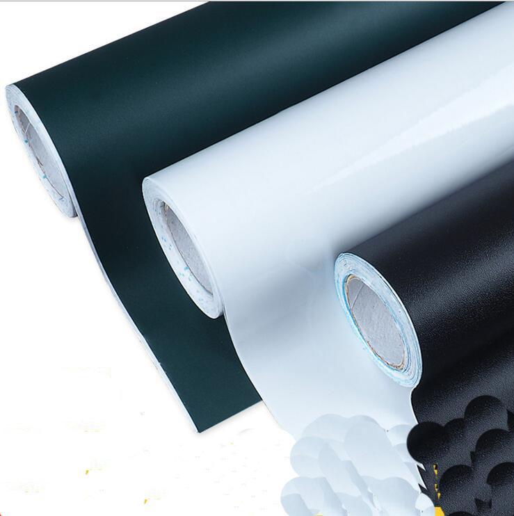 Etiqueta engomada del tablero verde del tablero del PVC de los 45x200CM de las etiquetas engomadas de la pared de las etiquetas engomadas del vinilo desprendible libre de DIY para los cabritos