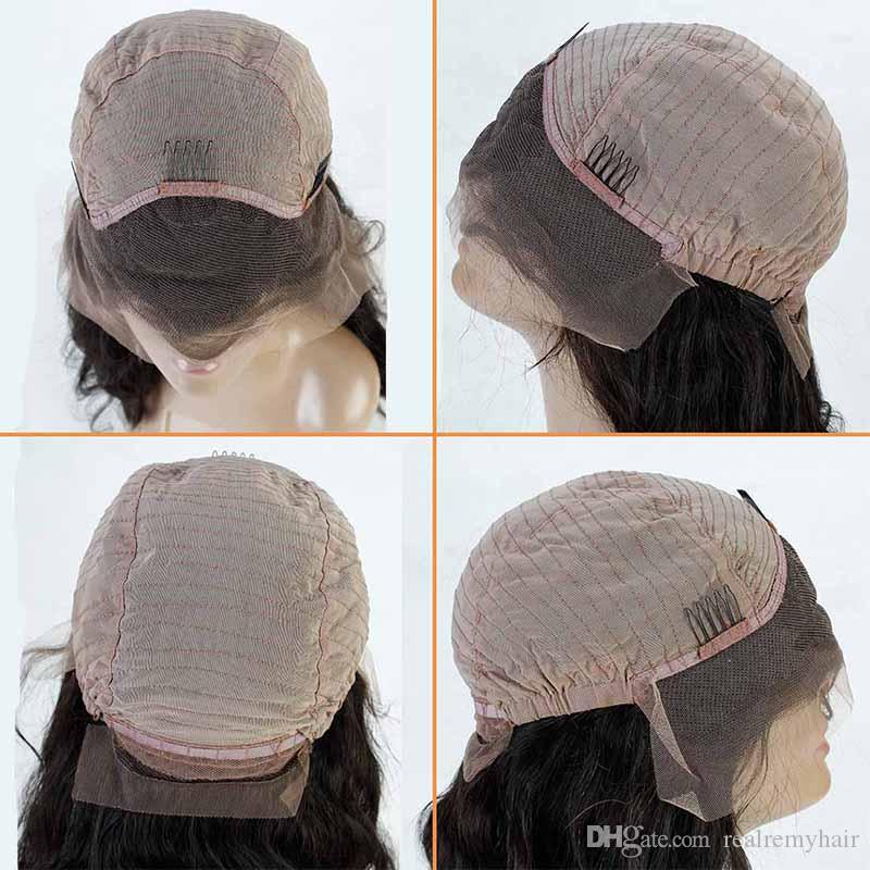 150 Densité du Brésil Honey Blonde Cheveux Lace Front Wigs Couleur # 613 Droit épais Glueless pleine dentelle perruques de cheveux humains avec des cheveux de bébé
