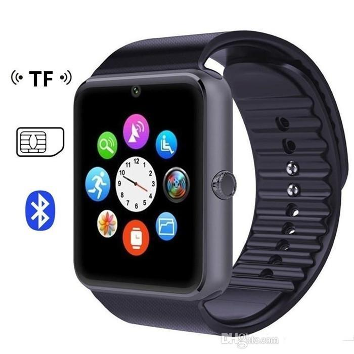 GT08 Bluetooth Smart Watch with SIM Card Slot and TF Health Watchs for Android Samsung and IOS Apple iphone Smartphone Bracelet Smartwatch