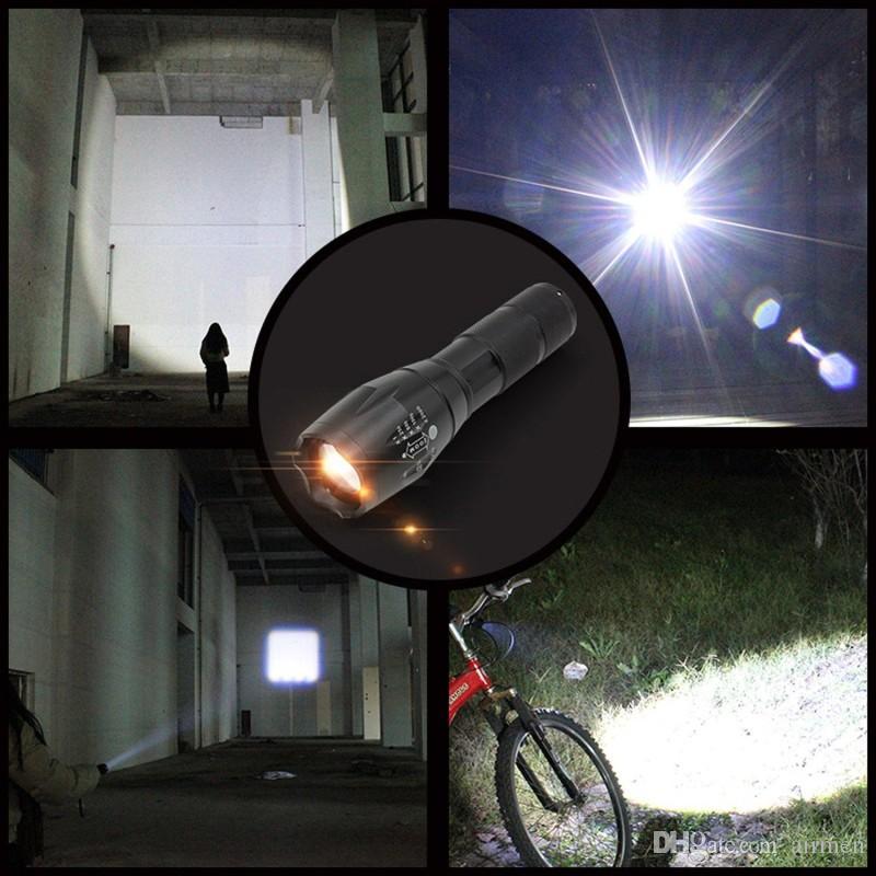 Ultrafire Cree LED El Feneri 2000 Lümen Taktik Su Geçirmez Zumlanabilir Güçlü XML T6 Lamba Kamp Torch LED linternas