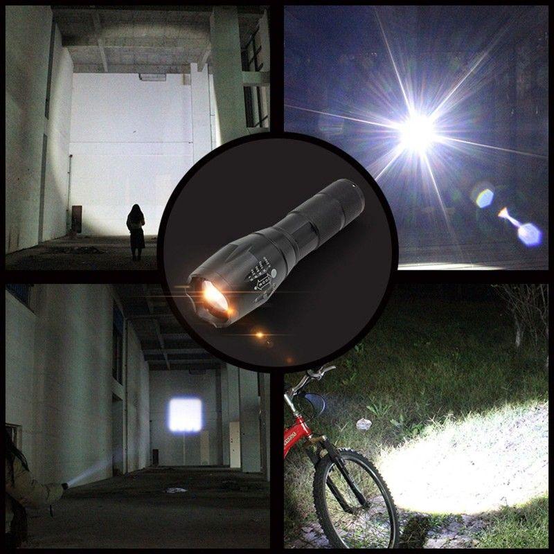 Ultrafire CREE XML T6 2000 Lumens de Alta Potência CREE LED Tochas Zoomable CREE LED Lanternas Tocha Luz Alimentado Por 3xAAA ou 1x18650 Bateria