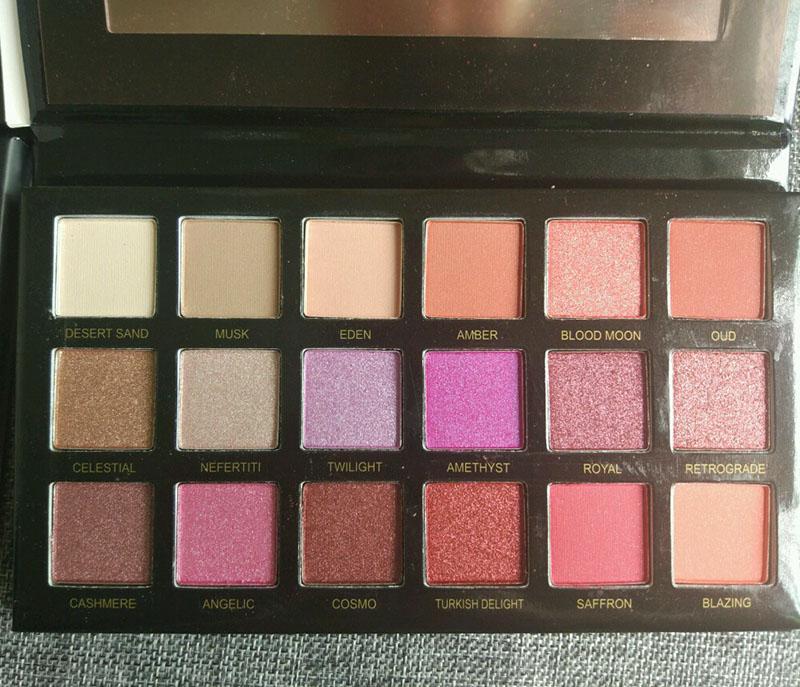Maquiagem QUENTE Paleta de beleza 18 cores Rosa Deserto De Ouro NUDE Paleta Da Sombra 4 estilo Shimmer Glitter Matte sombra DHL grátis