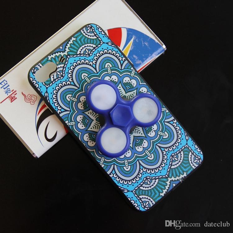 Yeni Varış El Spinner Durumda LED Fidget Spinner Telefon Kılıfı iphone 7 Artı 6 s Artı Samsung S8