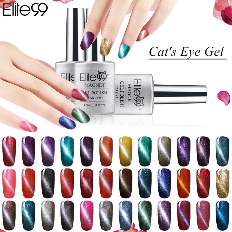 Wholesale Elite99 Magnet Uv Gel Varnish Color Magnetic Cat Eye Gel ...
