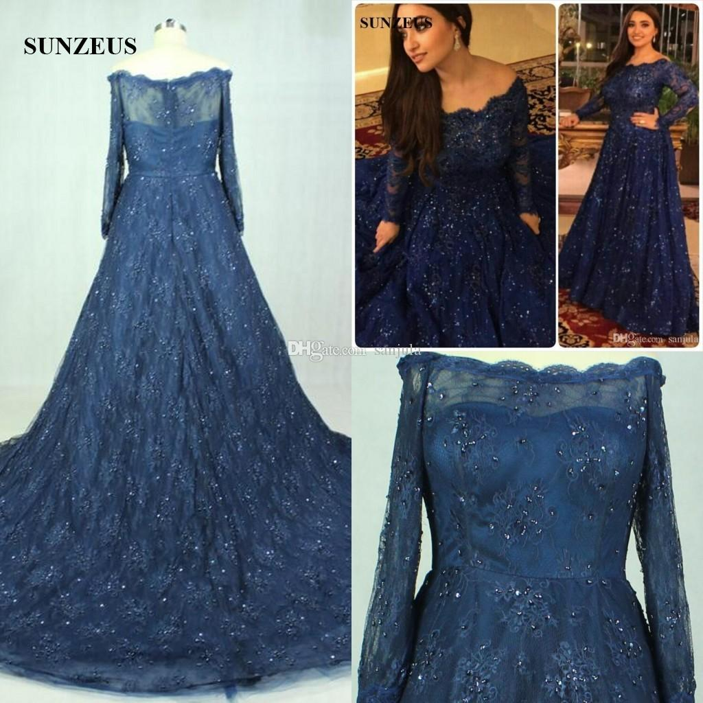 boat neck navy blue a line luxurious plus size prom dresses long