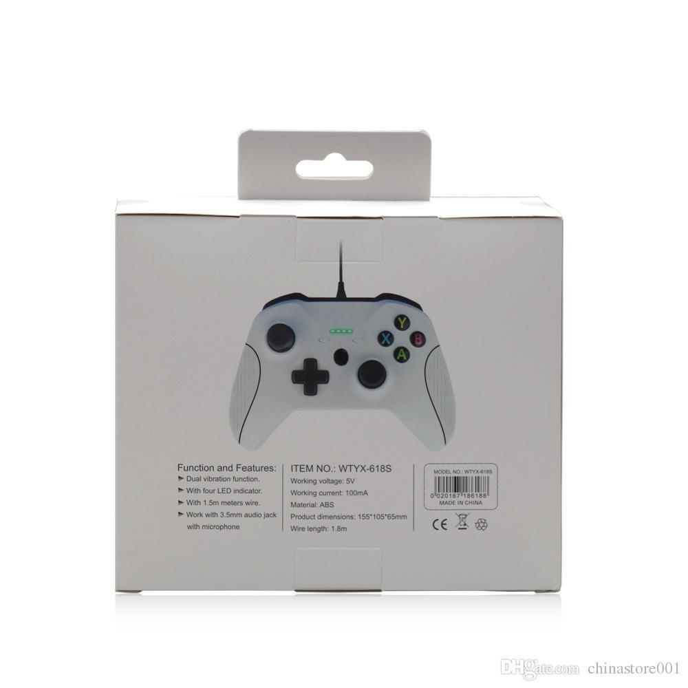 Barato game controller gamepad usb controle do jogo com fio joypad joypad acessório para xbox one slim s controlador de jogo computador portátil