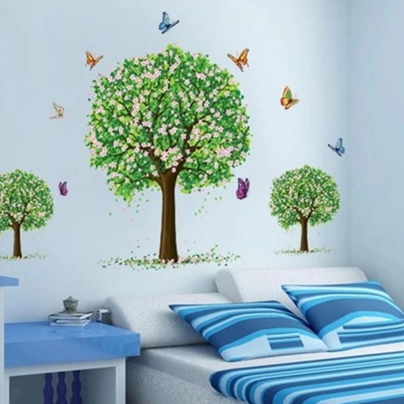 Großhandel Abnehmbare Baum Wandaufkleber Tapeten Kinder Kinderzimmer ...