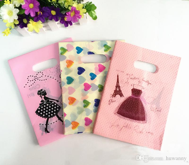 9*15 15*20 Gift Bags 20*25 30*40 35*45 40*50cm Plastic Jewelry Clothing Pouches Bags Packaging Wholesale 0025Pack