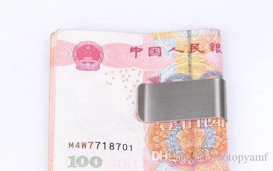 500 قطع الفولاذ المقاوم للصدأ النحاس المال المقص سليم المال المحفظة كليب المشبك بطاقة حامل بطاقة الائتمان حامل بطاقة