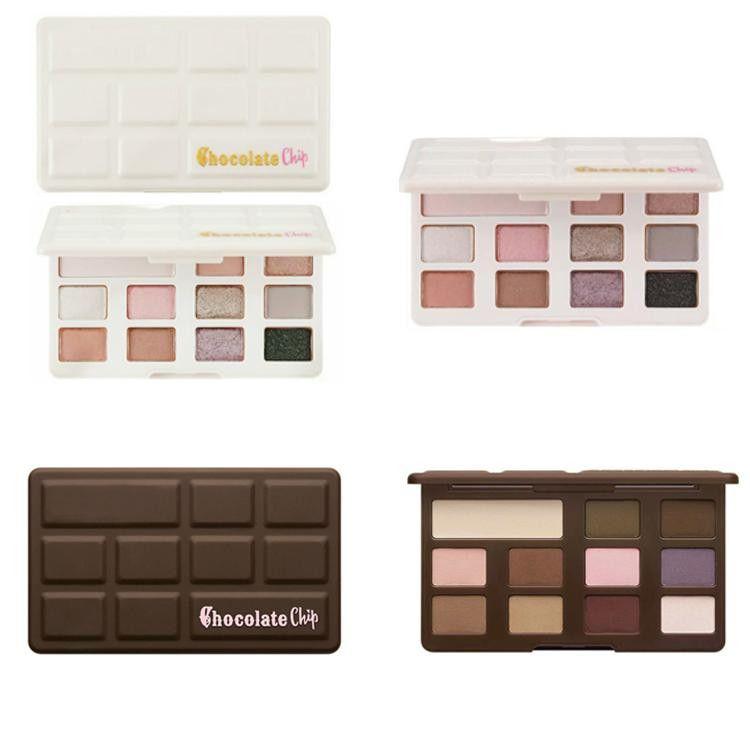 Dropshipping Em estoque !! Novo Sombra De Olho De Chocolate 11 cores Maquiagem Profissional Paleta Da Sombra Branco E Fosco Maquiagem Sombra