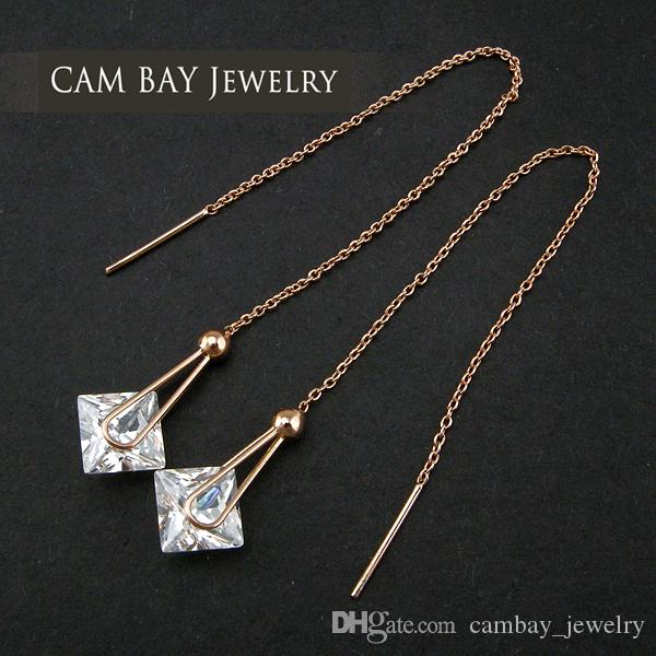 a9cc6c2ae 2019 Chinese Jewelry Wholesale Drop Earrings Long Link Chain Big Crystal  Heart Dropping Sweet Ear Accessories Women From Cambay_jewelry, $9.85 |  DHgate.Com