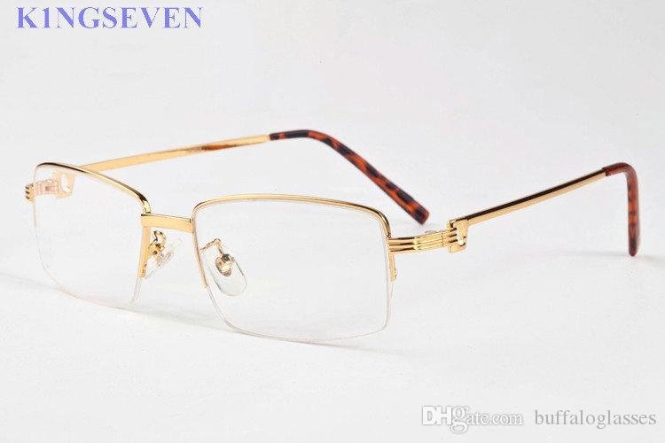 2020 Unisex Sunglasses Natural white buffalo horn glasses gold metal frames glasses clear lenses women fashion attitude sunglasses Special