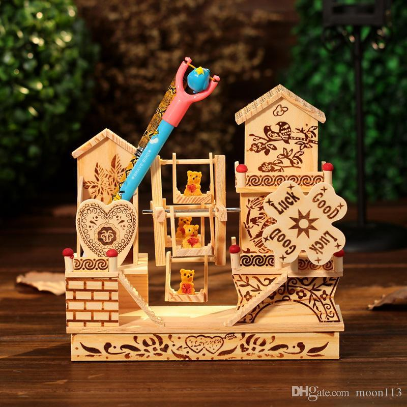 2017 5Gift Boutique Villa Garden Wooden Windmill Windmill Towers Home  Furnishings New Year Christmas Ornaments From Moon113, $35.28 | Dhgate.Com