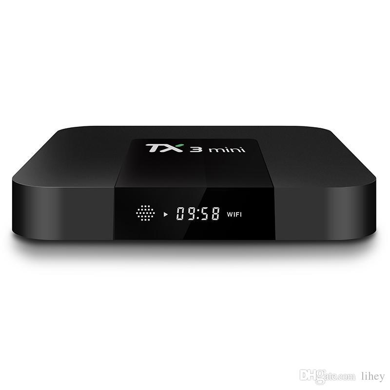 TV BOX TX3 Mini 1GB 8GB Quad Core Amlogic S905W Smart Box Android 7.1 Media Player Support Wifi DLNA 3D