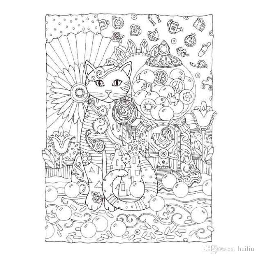 Compre Libro Para Colorear De Los Gatos Creativos Libro Para ...