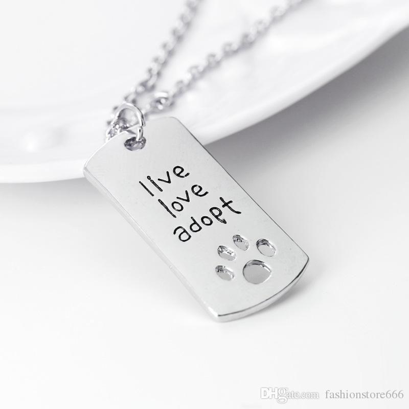 живая любовь принять следы любовь в форме сердца ожерелье брелки любить день Фахер подарок ювелирные изделия брелок бесплатная доставка
