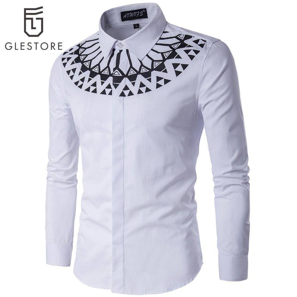 2019 Wholesale Glestore Men Shirt Mens Dress Shirts Brand Clothing
