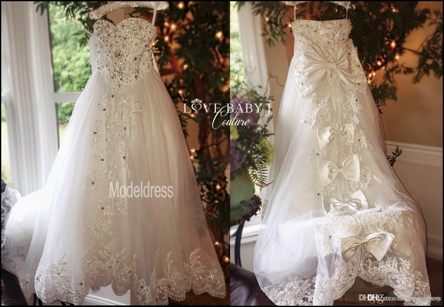 2019 New Luxury Flower Girls Dresses for Weddings Sweetheart Appliques Crystal Real Photos First Communion Dress Girls Pageant Party Gowns