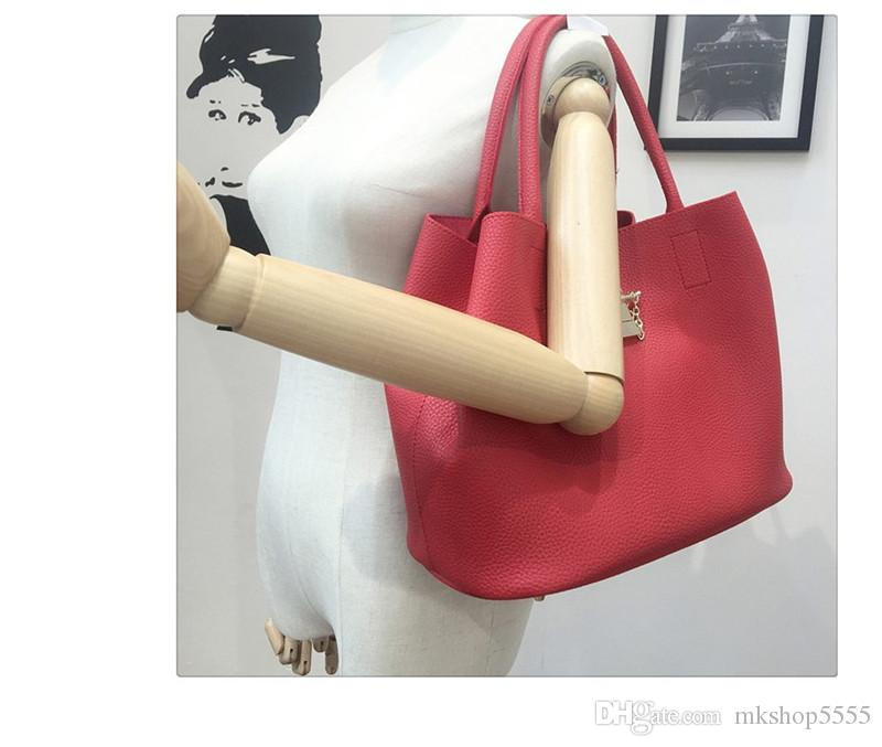 Fashion Women Leather Handbags Mobile Messenger Ladies Handbag PU Leather High Quality Diagonal Cross Buns Mother Bag
