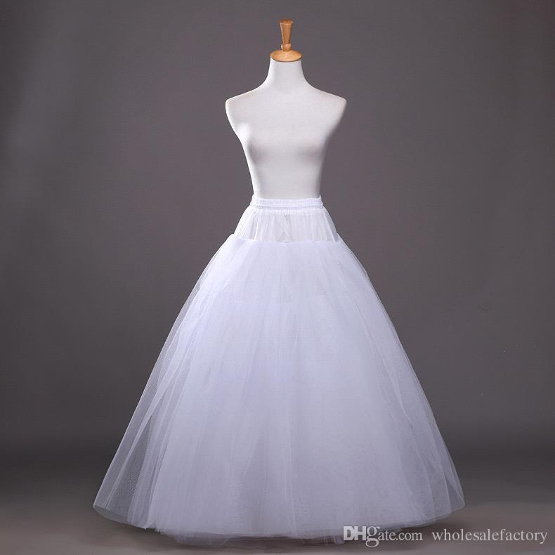 زائد الحجم رخيصة عالية 2017 الزفاف حورية البحر تنورات 2 هوب قماش قطني ل فستان الزفاف تنورة اكسسوارات الزفاف زلة مع قطار CPA214
