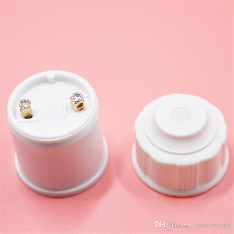 / sac blanc support de lampe en bakélite E27 Edison support de lampe en plastique Shell base ronde E27 douille support de lampe ampoule