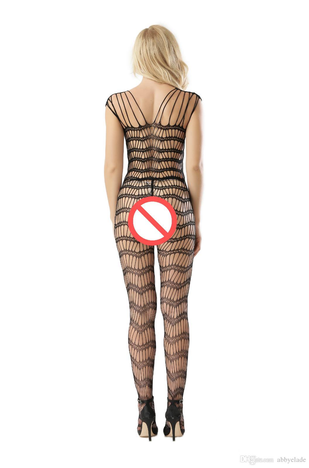 2017 Nuovo arrivo Lingerie Hot costumi sexy Net calza trasparente Bodystockings Kimono Pigiama Sleepwear Dress le donne