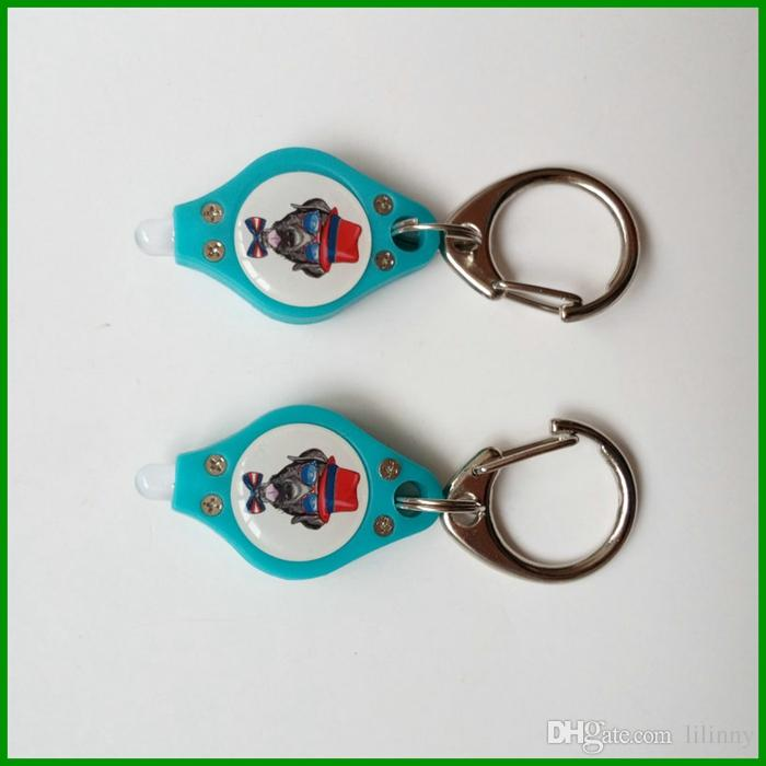 Free DHL Smaller LED Purple 400nm UV Super Light Keychains Torch Keyring For Promotional Gifts Logo Custom
