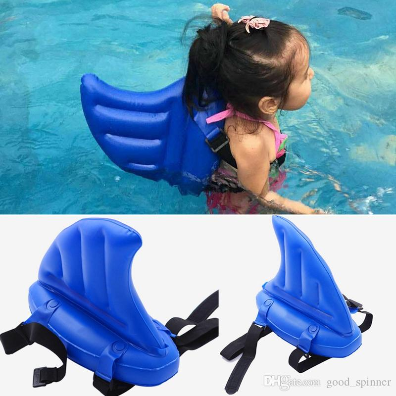 Kid's toy learning to swim artifact shark fins copycat inflatable children swimming pool Life buoy floats swimming rings