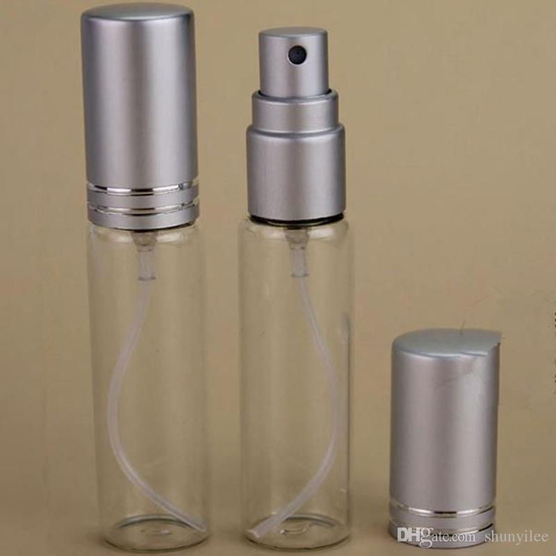 Großhandel MINI 10 ml metall Aluminium Leeres Glas Parfüm Nachfüllbare Flasche Spray Parfüm Zerstäuber Flaschen