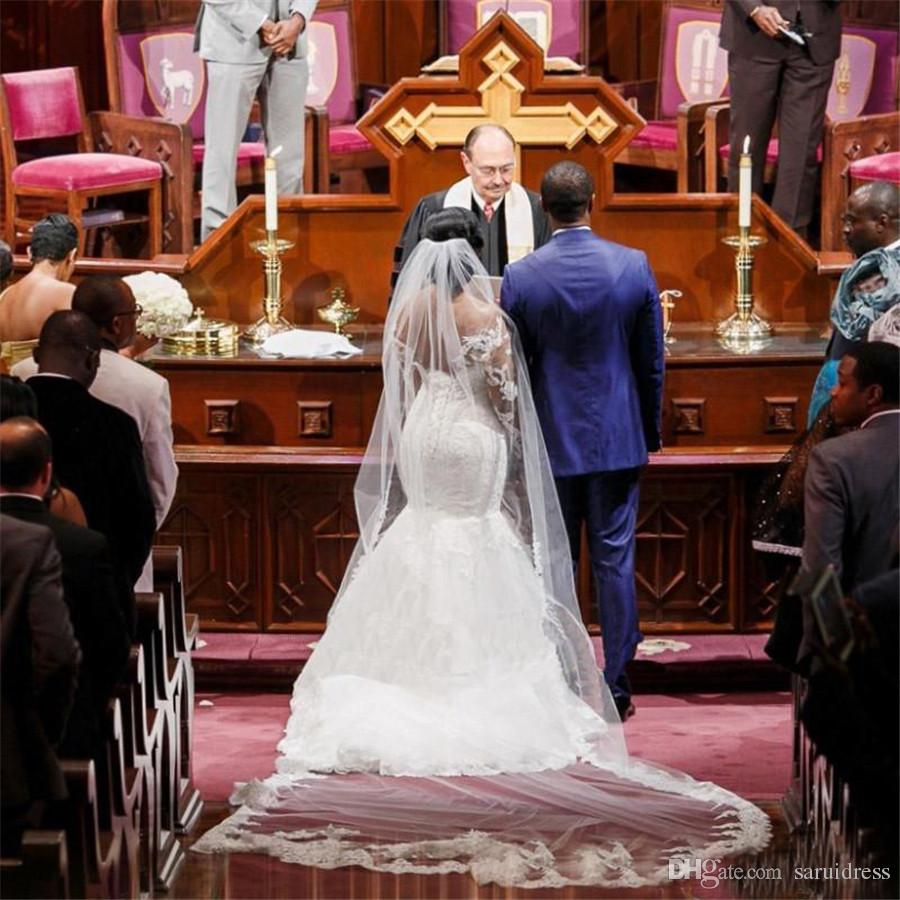 С плечами с длинными рукавами Аппликации кружева на заказ на заказ свадебные свадебные платья свадебные платья свадебные платья плюс размер русалки свадебные платья
